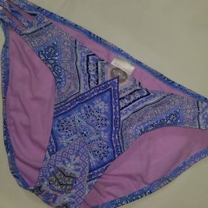 Xhilaration Swim Bikini Bottom M XL Blue Paisley